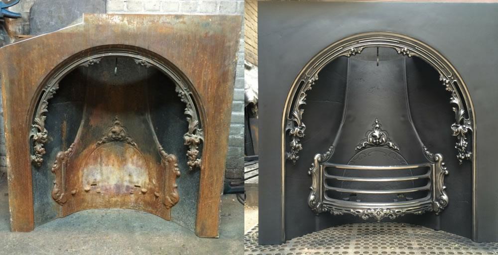 Cast Iron Fireplace Restoration Process Ironwright